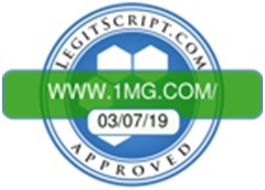 Photo of 1mg.com certified as safe, secure and trustworthy E-pharmacy by LegitScript