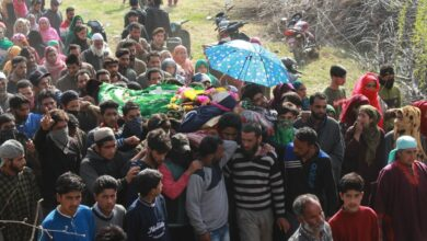 Photo of Shopian Encounter: Funeral of Local Militant Aqib offered
