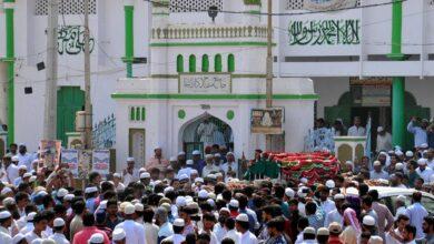 Photo of Thousands attend funeral prayer of martyr Uzair qader