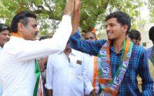 Vishweshwar Reddy, Congress Candidate Road show at  Chevalla