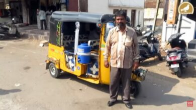 Photo of Auto driver Shaik Saleem quenches thirst of people –Siasat Online readers express views