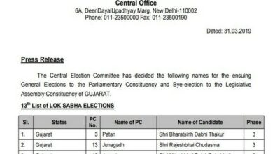 Photo of BJP announces 4 Lok Sabha candidates from Gujarat, fields 3 new faces