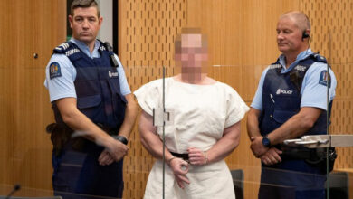 Photo of Christchurch mosques attacker charged with terrorism