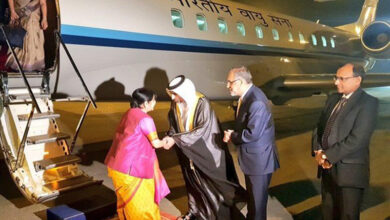 Photo of Sushma Swaraj reaches Abu Dhabi to address OIC conclave