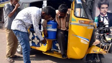 Photo of Hyderabad: Auto driver Shaik Saleem quenches thirst of people