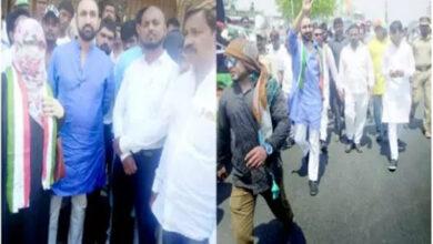 Photo of LS polls: Feroz Khan campaigns in Old City, criticizes Asaduddin Owaisi