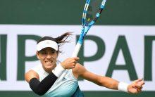 Paribas Open: Garbine Muguruza advances to next round as Serena Williams retires