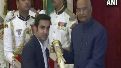 Photo of Gautam Gambhir among 5 sportsperson received Padma Award