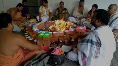 Photo of TDP MLC performs 'havan' for Chandrababu Naidu's win in LS polls