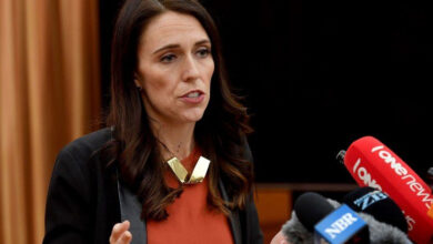 Photo of Christchurch shooting: Wearing hijab, New Zealand PM meets victims' families