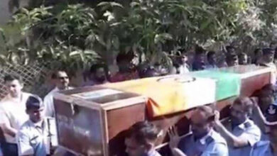 Photo of IAF pilot killed in J&K crash cremated with military honours