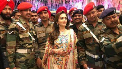 Photo of Nita, Mukesh Ambani celebrate son's wedding with men in uniform, their families