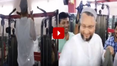 Photo of Asaduddin Owaisi visits Gym, gives suggestion to youths – Video goes viral