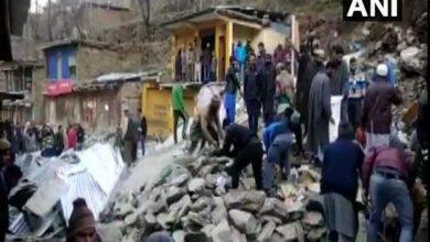 Photo of Jammu and Kashmir: 13 shops damaged after landslide hits Doda