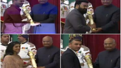 Photo of President confers Padma awards to 56 recipients