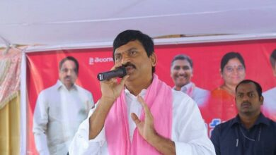 Photo of TRS MP candidate M Srinivas Reddy files nomination