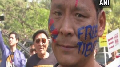 Photo of Tibetan Uprising: Activists march from Teen Murti to the Chinese embassy