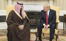 'Saudi pay billions of dollars for US military,' brags Trump
