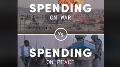 Photo of Spending On War Vs. Spending On Peace