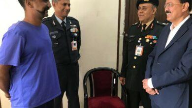 Photo of MoS Defence Subhash Bhamre meets Wg Cdr Abhinandan