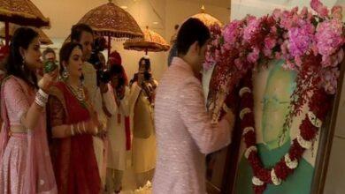 Photo of Ambani-Mehta wedding: Akash begins festivities by paying homage to grandfathers