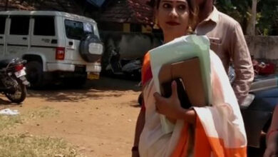 Photo of Nara Lokesh contesting from Chitoor seat to protect land he has grabbed, alleges transgender candidate Tamanna