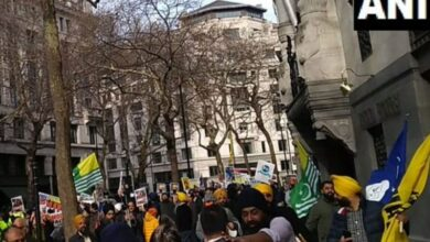 Photo of Pak-backed pro-Khalistanis assault British Indians outside Indian High Commission in London