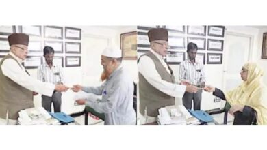 Photo of Zahid Ali Khan distributes Senior Citizen Cards