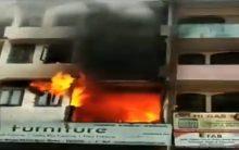 Major fire breaks out at building in Abul Fazl; 2 kids Aisha, Zaid die