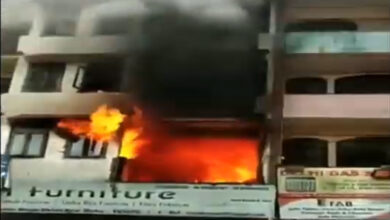 Photo of Fire accident in Abul Fazl Enclave: Naseer's heroic act saved 8 lives