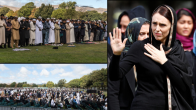 Photo of A week after the shootings, New Zealand joins Muslim community for Friday prayers