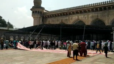 Photo of New Shed, Devotees heave a sigh of relief at Mecca Masjid