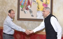 Secretary, Ministry of Steel, Govt. of India met to Governor