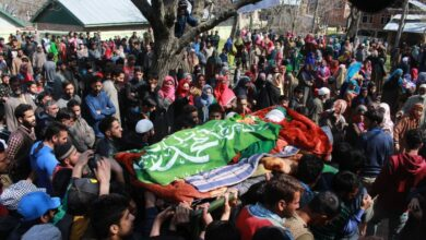 Photo of Pulwama: Funeral of local militant died in an encounter