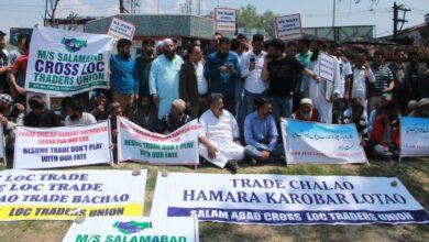 Photo of Srinagar: Cross LoC traders protest against trade suspension