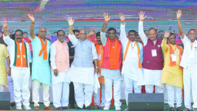 Photo of Rajnath Singh's Election Public Meeting at Nizamabad