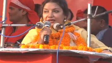 Photo of Begusarai: Shabana Azmi addresses public meeting to muster support for Kanhaiya Kumar