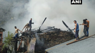 Photo of Himachal Pradesh: Fire breaks out in house in Kullu