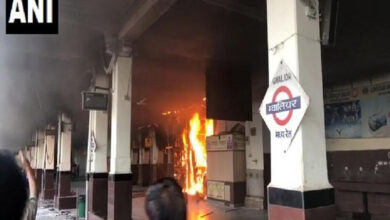 Photo of Fire breaks out inside a canteen in Gwalior railway station