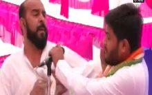 Hardik Patel slapped during rally in Surendranagar