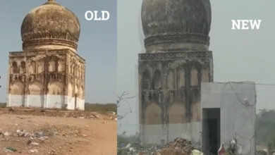 Photo of Illegal room constructed at Balapur Maqbara by Land Grabbers