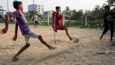 Photo of Myanmar: Disabled teen football champ defies the odds