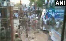YSR Congress workers clash with cops in Mylavaram