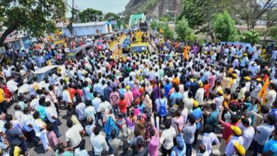 Photo of Andhra polls: Nara Lokesh's wife holds roadshow in Mangalagiri