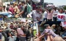 Mild tension at CM Camp office, SFI Protest