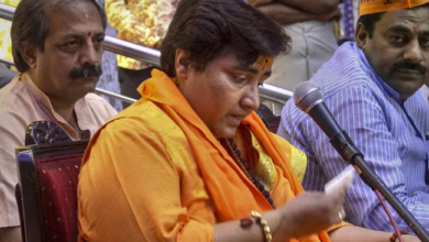 Photo of Sadhvi Pragya apologises for Karkare curse remark after row