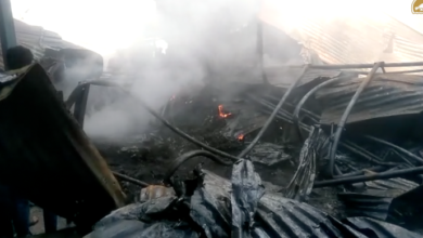 Photo of A massive fire breaks out at Plastic godown in Hyderabad