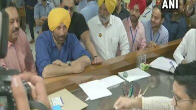 Photo of BJP's Sunny Deol files nomination from Gurdaspur Lok Sabha seat