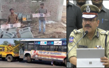 Stolen TSRTC bus in parts traced in Nanded, 9 held