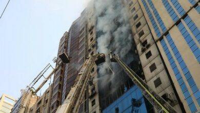 Photo of Dhaka office tower fire: Owners arrested, sent to 7-day remand